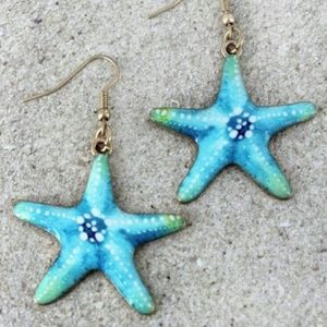 New Starfish Unique Dangle Earrings!